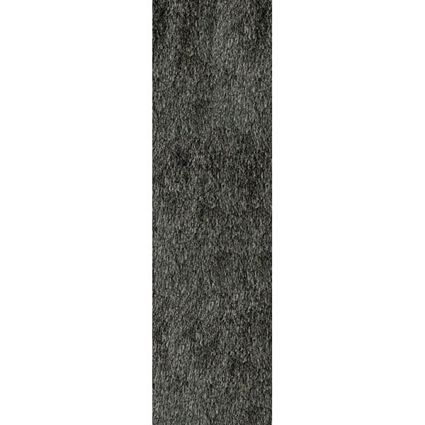 Handmade Posh Charcoal Shag Rug (2'3 x 8')