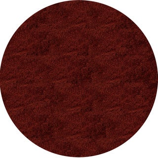 Hand-Tufted Posh Shag Brick Red Rug (4' x 4')