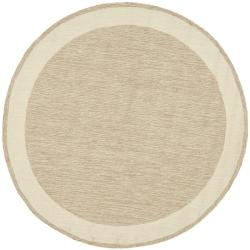 Simply Clean Gabeh Hand-hooked Natural Rug (6' Round)
