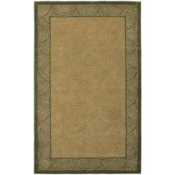 Safavieh Handmade New Zealand Sunrise Light Green Rug (7'6 x 9'6)