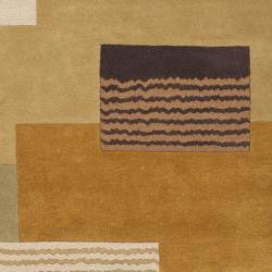Handmade New Zealand Wool Vision Multi Beige Rug (7'6 x 9'6)