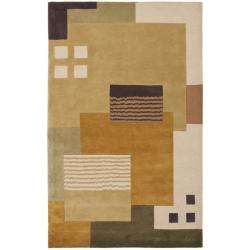 Handmade New Zealand Wool Vision Multi Beige Rug (8'3 x 11')