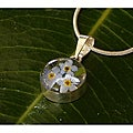 Sterling Silver Forget-Me-Not Flower Necklace (Mexico)