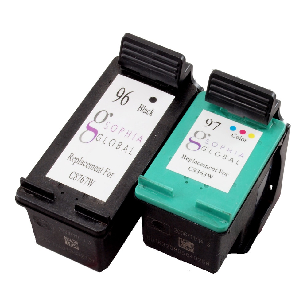 HP 96/97 Black and Color Ink Cartridges (Remanufactured) (Pack of 2)