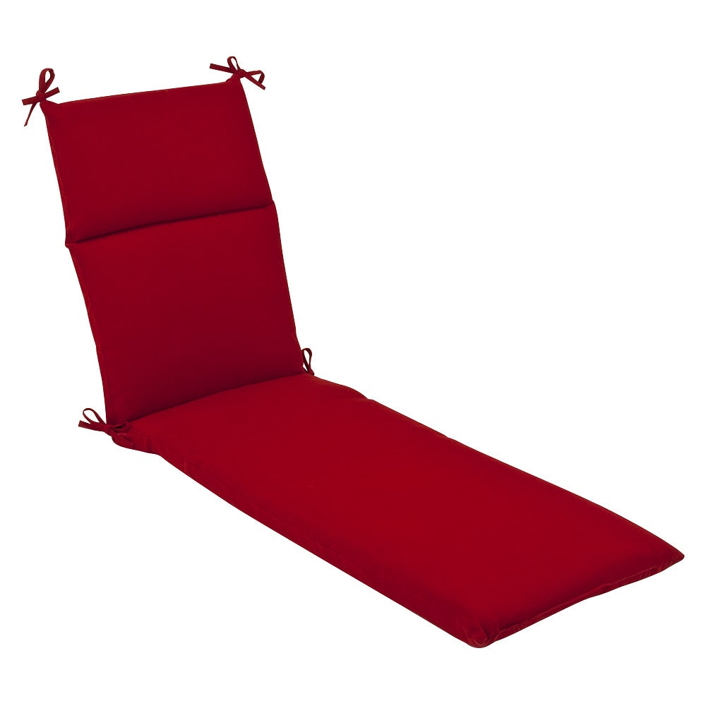 Outdoor Red Chaise Lounge Cushion Patio Furniture Garden