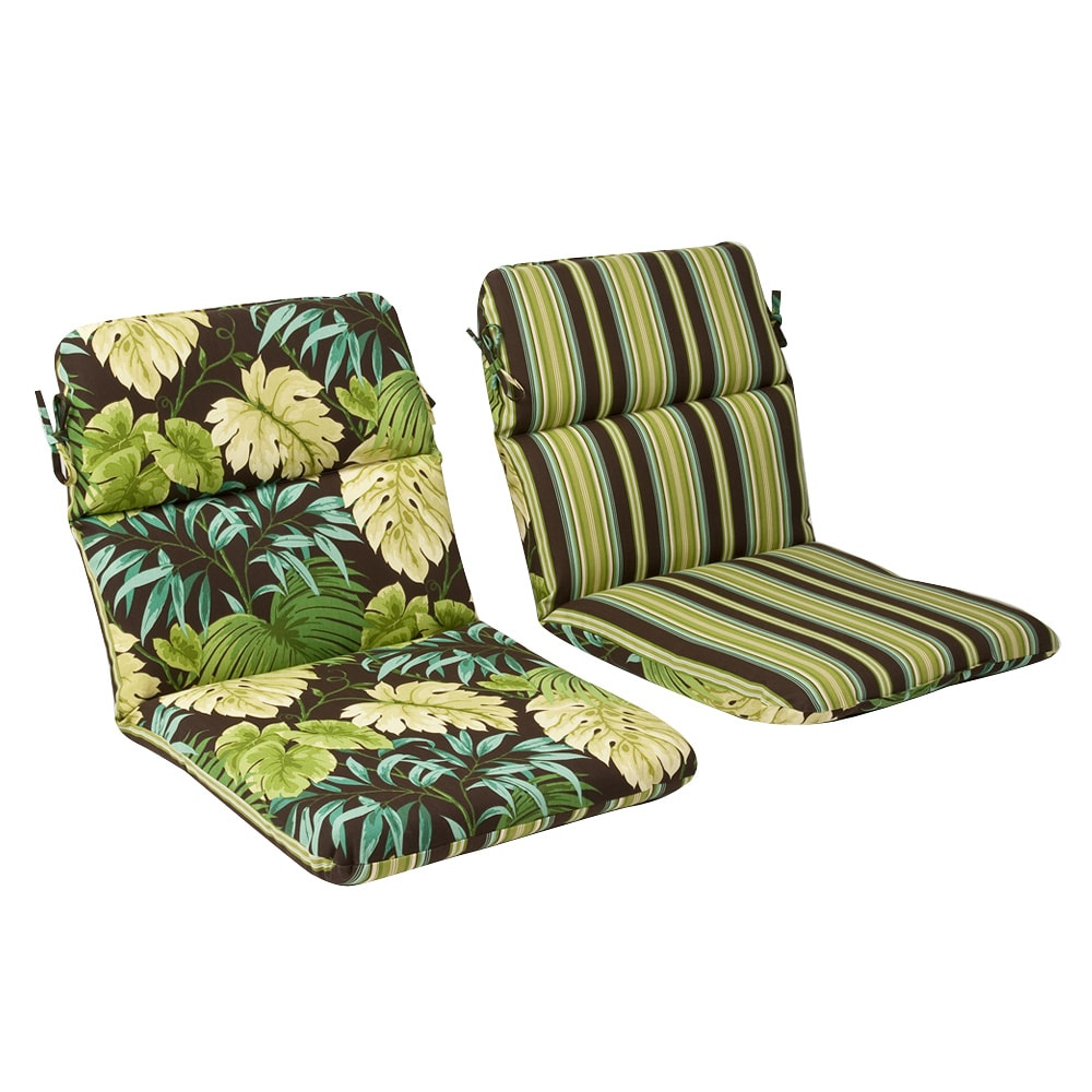 Pillow Perfect Outdoor Green Brown Tropical Round Chair