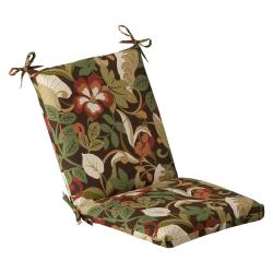 Pillow Perfect Outdoor Brown/ Green Tropical Square Chair Cushion