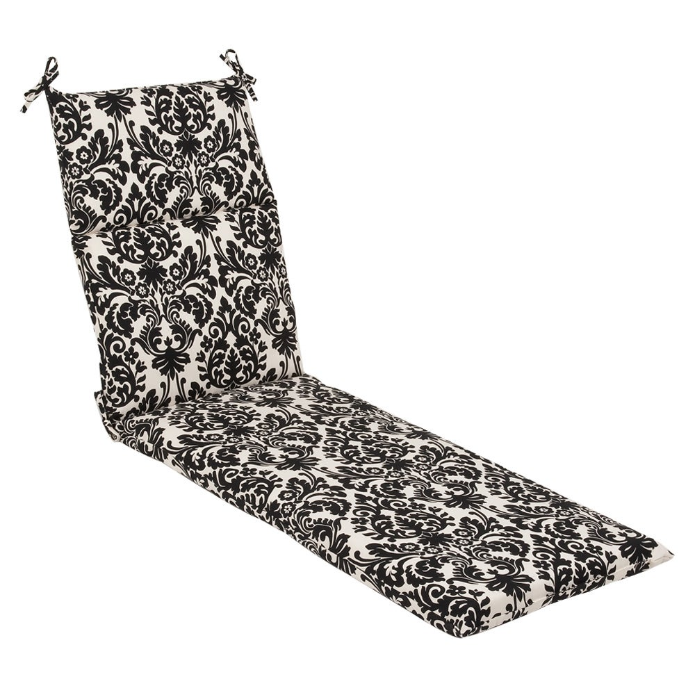 Pillow Perfect Outdoor Black/ Beige Damask Chaise Lounge Cushion at Sears.com
