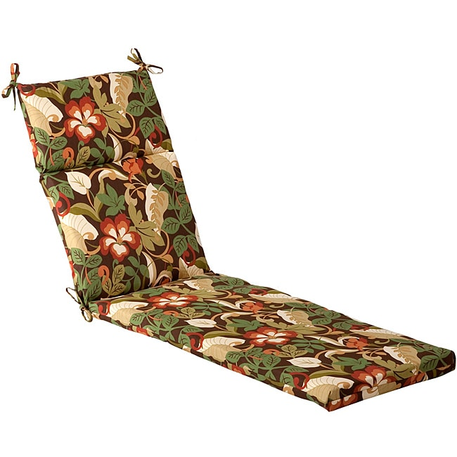 Pillow Perfect Outdoor Brown/ Green Tropical Chaise Lounge Cushion at Sears.com