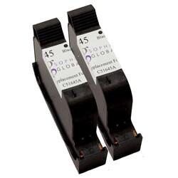 Sophia Global HP 45 Black Ink Cartridges (Pack of 2) (Remanufactured)