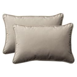 Pillow Perfect Decorative Beige Indoor/Outdoor Toss Pillows (Set of 2)