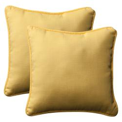 Pillow Perfect Outdoor Yellow Toss Pillows (Set of 2)