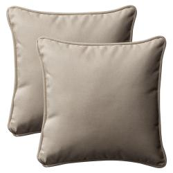 Pillow Perfect Decorative Beige Outdoor Toss Pillows (Set of 2)