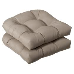 Pillow Perfect Outdoor Beige Seat Cushions (Set of 2)