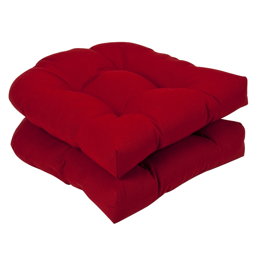 Pillow Perfect Outdoor Red Seat Cushions Set of 2