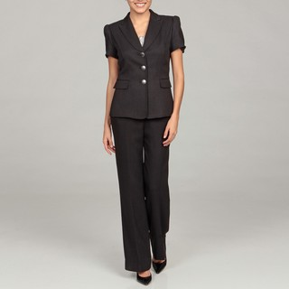 Tahari Women's Black Short Sleeve Pant Suit