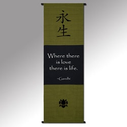 Gandhi 'Where There's Love' Cotton Scroll (Indonesia)