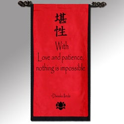 Daikasu Ikeda 'With Love and Patience' Cotton Scroll (Indonesia)