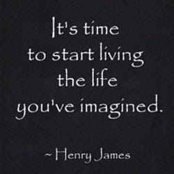 Henry James 'It's Time to Start Living' Cotton Scroll, Handmade in Indonesia