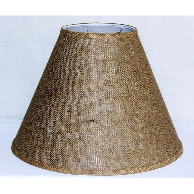 Crown Lighting Tan Burlap Empire Hardback Large Lampshade