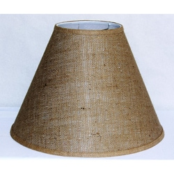 Tan Burlap Empire Hardback Large Shade