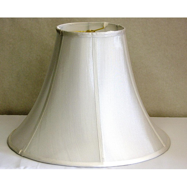 Off White Shantung Silk Bell Large Shade