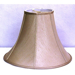 French Beige Shantung Silk Bell Shade