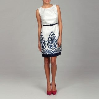 Cece's New York Women's Abstract Belted Dress