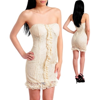 Stanzino Women's Beige Casual Party Dress
