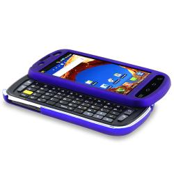 INSTEN Blue Rubber-coated Phone Case Cover for Samsung Epic 4G D700