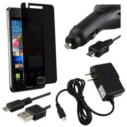 Privacy Filter/ Car Travel Charger/ USB Cable for Samsung Galaxy i9100