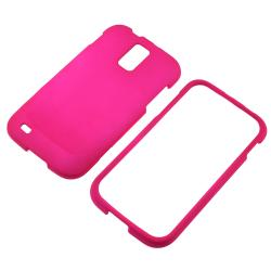 Hot Pink Rubber-coated Case for Samsung Galaxy S II T989