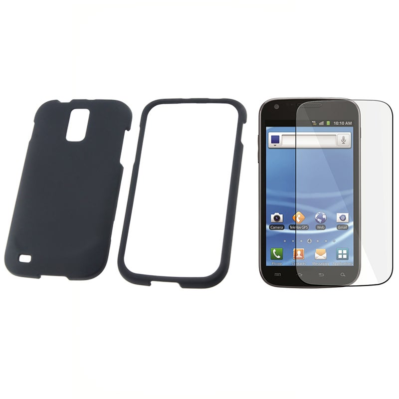 INSTEN Black Phone Case Cover/ Screen Protector for Samsung Galaxy S II T989