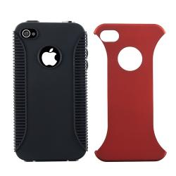 BasAcc Red TPU Hybrid Case/ Protector/ Headset for Apple iPhone 4 AT&T