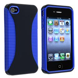 Blue Hybrid Case Protector for Apple iPhone 4 AT&T