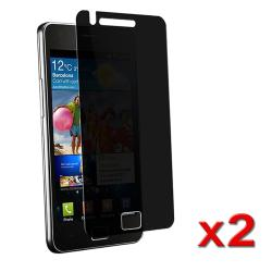 Privacy Screen Filter Protector for Samsung Galaxy S II i9100 (Pack of 2)