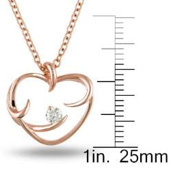 Miadora 14k Rose Gold 1/10ct TDW Floating Diamond Heart Necklace (G-H, SI1)