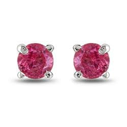 Miadora 14k White Gold 1/3ct TDW Pink Diamond Stud Earrings (I1-I2)