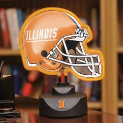 The Memory Co. NCAA Illinois Fighting Illini Neon Helmet Lamp