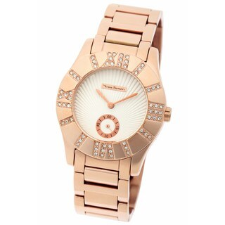 Yves Bertelin Paris Women's Rose Gold and Crystals Watch