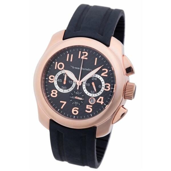 Yves Bertelin Paris Men's Rose Gold/ Black Chronograph Watch