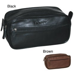 Dopp Milan Soft Sided Multi Zip Travel Toiletry Bag