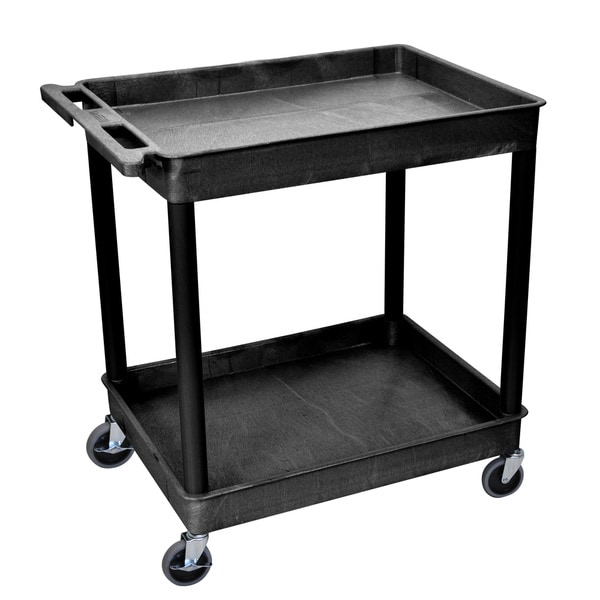 Luxor Black Large 3-Tub Utility Cart