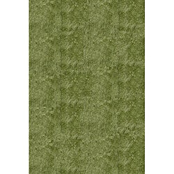 Hand-Tufted Posh Apple Green Shag Rug (2' x 3')