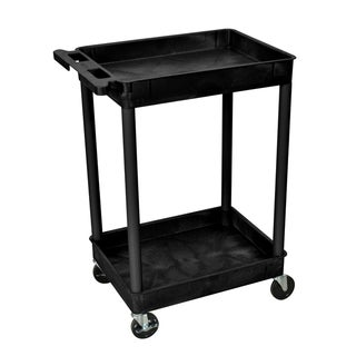 Luxor Black 2-Tub Utility Cart