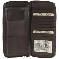Dopp Regatta Oil-tanned-cowhide Passport Organizer with Zipper