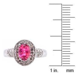 Michael Valitutti 14k Gold Pink Tourmaline and 1/6ct TDW Diamond Ring (I-J, I1-I2)