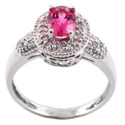 MV 14k Gold Pink Tourmaline and 1/6ct TDW Diamond Ring (I-J, I1-I2)