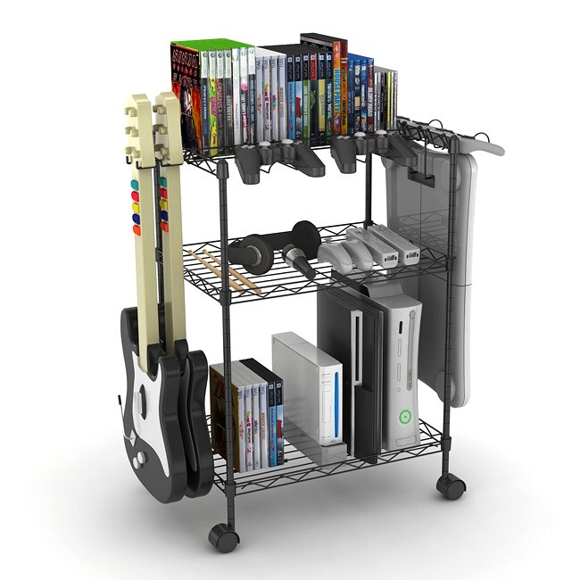 Black Three-tier Game Cart