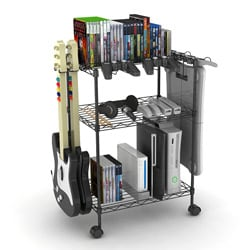 Black Three-tier Game Cart